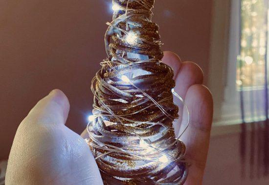 Handmade Table Christmas Trees at Rokkosan Silence Resort