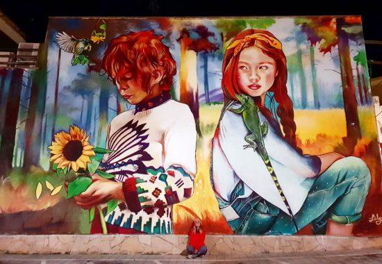November 2021  STREET ART  by  Spanish artist Lily BRIK