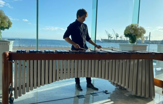 Ivaylo Koychev Mini Marimba Concert at the Kobe Club in Honor of the Swiss National Day (1st August)